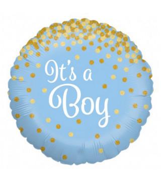 Шарик фольгированный голубой It's Boy