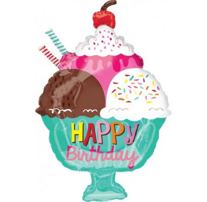 Кульки фігур. Морозиво Happy birthday 990267 Китай