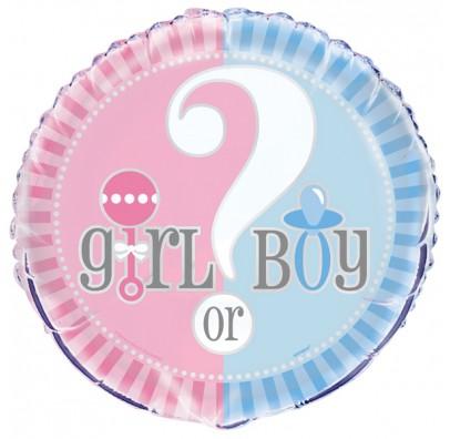 "Кульки фольг. з малюнк. 18""? Girl /Boy 45.7cм e"