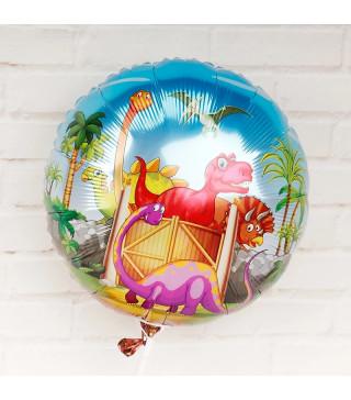 Кульки фольг з малюнк. Динозаври (2,5г) 21509 Китай
