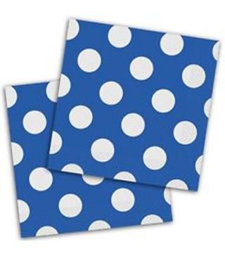 Серветки Горошок сині