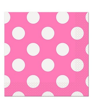 Серветки Горошок міні рожеві