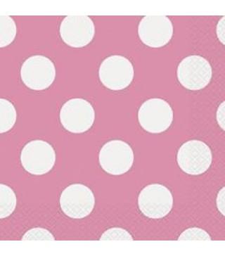 Серветки Горошок, рожеві