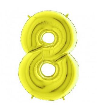 Шарик Цифра 8 (86см) золото
