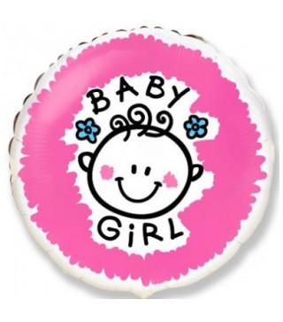 Кульки фольг з малюнк. BABY GIRL (3г) 2151014 Китай