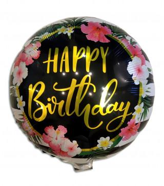 Кульки фольг з малюнк. Happy birthday гавайська (2,5пор) 2151071 Китай