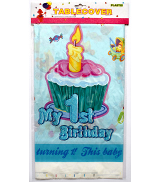 "Скатертина ""My 1 st Birthday"" гол. Поліетилен 412264 Китай"