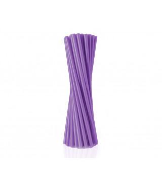 Трубочки для коктейля фиолетовые 25 шт/уп