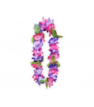 """Леї гавайські пастел.фіолет. рожеві з зеленим"""" пластмаса, тканина 11648 Godan"""