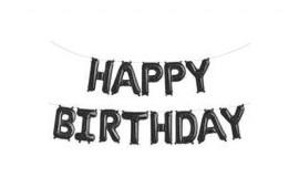 Кульки Цифра Букви HAPPY BIRTHDAY чорні 40см 564893 Польща