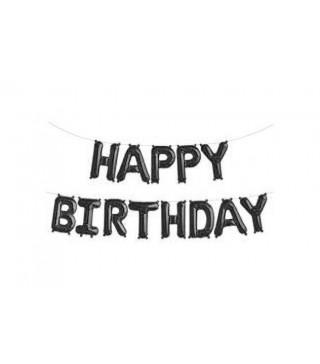 Кульки Цифра Букви HAPPY BIRTHDAY черные 40см 564893 Польща