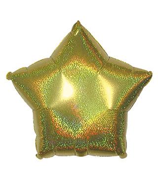 Кульки фольг.б/м Зірка гологр.золота.(3г) 57004 Китай
