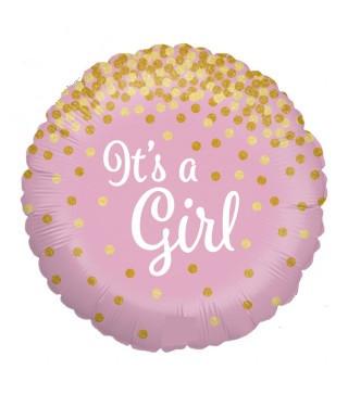 Шарик фольгированный розовый It's Girl