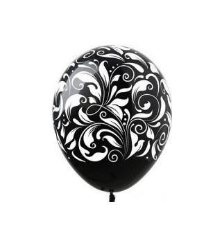 Кульки поштучно з малюн. чорні в білі узори Ш-01814 FlexMetal