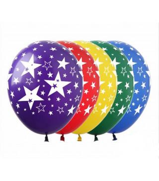 Кульки поштучно з малюн. в зірочки Ш-00479 FlexMetal