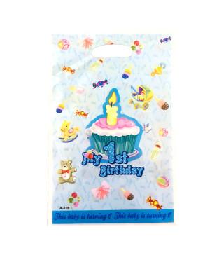 """Подарунковий пакет """"My 1st Birthday""""гол.10 шт/уп поліпропілен 55105 Китай"""