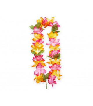 """Леї гавайські пастел.оранж.рожеві з зеленим"""" пластмаса, тканина 11647 Godan"""