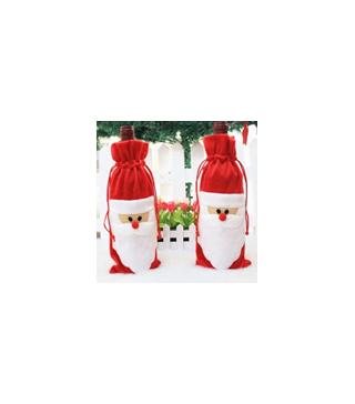 Декор для пляшки вина Санта