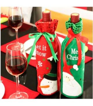 Декор для пляшки вина Сніговик