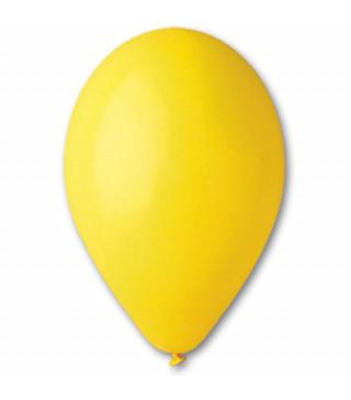 """Кульки жовті 10""""(26см) пастель 100шт/уп"""