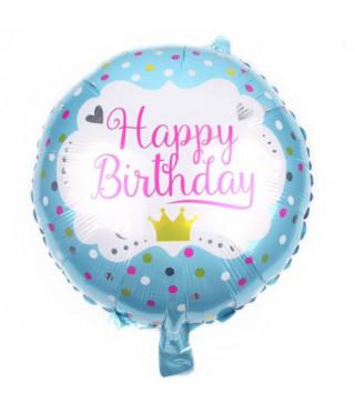 Кульки фольг з малюнк. Happy birthday корона гол.(2,5пор) 215192 Китай