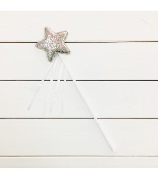 Чарівна паличка Зірочка срібла з блисками 62004 Godan