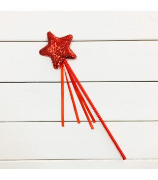 Чарівна паличка Зірочка червона з блисками 62006 Godan