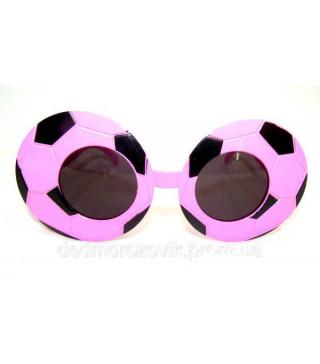 """Окуляри """"Футбол"""" рожево-чорні"""