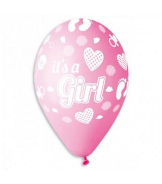 """Кульки пастель 12"""" """"Its Girl"""" 100шт/уп GS110/091 латекс 2001 Gemar"""