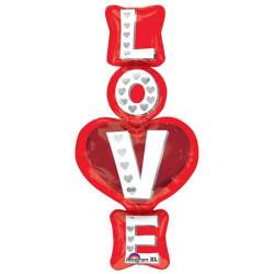 Кулька фольгована фігурна Love