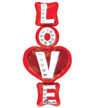 Кулька фольгована Love