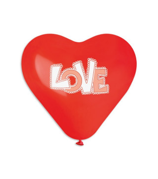 Кульки поштучно з малюн. Love серце латекс Ш-56951 Gemar