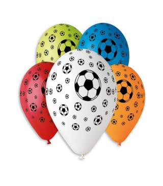 """Кульки пастель 12"""" асорті футбольний мяч100шт/уп GS110/142 11940 Gemar"""