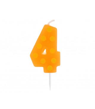 Свічка цифра 4 горох