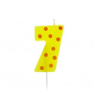Свічка цифра 7 горох