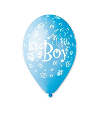 """Кульки пастель 12"""" """"Its a Boy (слоник) 100шт/уп GS110/094 латекс 2002 Gemar"""