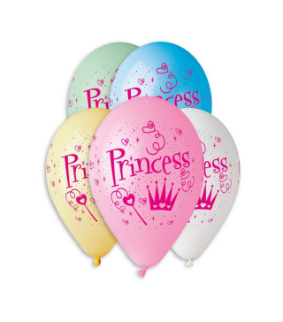 "Кульки поштучно з малюн. паст. ""12"" Princess асорті ш-11939 Gemar"