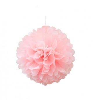 Помпон декоративный розовый 25см