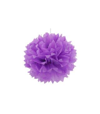 Декорація Помпони фіолетов. 25см 1шт/уп. папір 07547 Китай