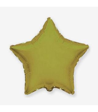 Кульки фольг.б/м Зірка хаки золотая(3г) 55003 Китай