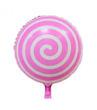 Кульки фольг з малюнк. Спіраль рож.45см(2,5пор) 2151087 Китай
