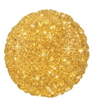 Шарик фольгированный Круглый золотой