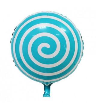 Кульки фольг з малюнк. Спіраль синя 45см.(2,5пор) 2151088 Китай