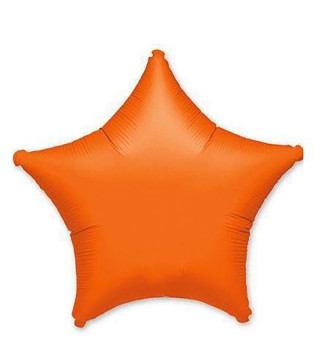 Шарики фольгированный Звезда янтарная