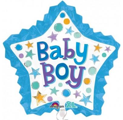 Шарик фольгированный фигурный Baby boy