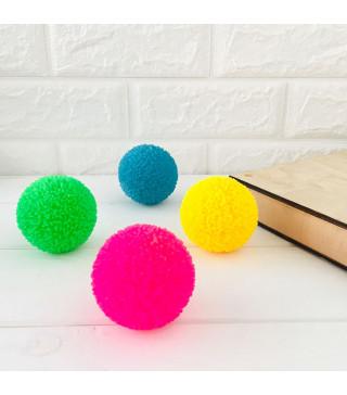 Мяч попригун пушистий 4 кольор. 01438 Китай