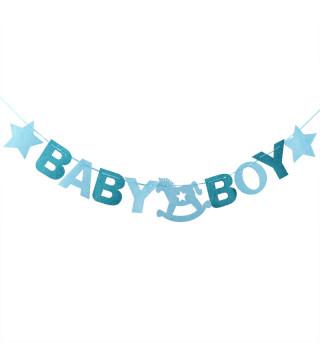 """Декорація Гірлянда (на шнур. """"""""Baby"""" хлоп"""" фетр 1-033 Китай"""