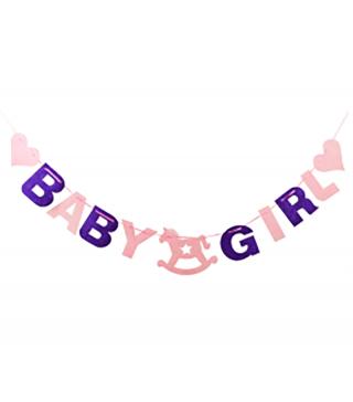 """Декорація Гірлянда (на шнур. """"""""Baby"""" дівчин"""" фетр 1-032 Китай"""