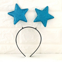 Обруч Антенка Зірочки синя пластмаса, тканина 9010 Китай
