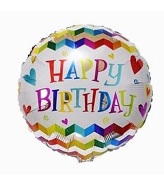 "Кульки фольг з малюнк. Круг Happy Birthday"" фольга 2151034 Китай"